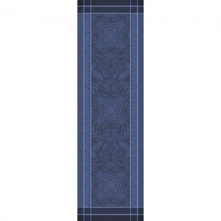 【撥水GS】テーブルランナー ペルシナ ダークブルー