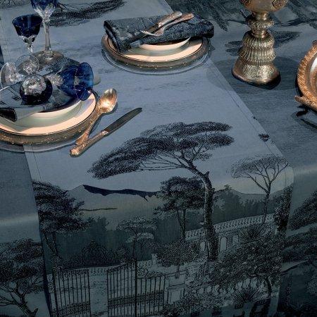 【撥水GS】テーブルランナー パラッツィーナ ダークブルー