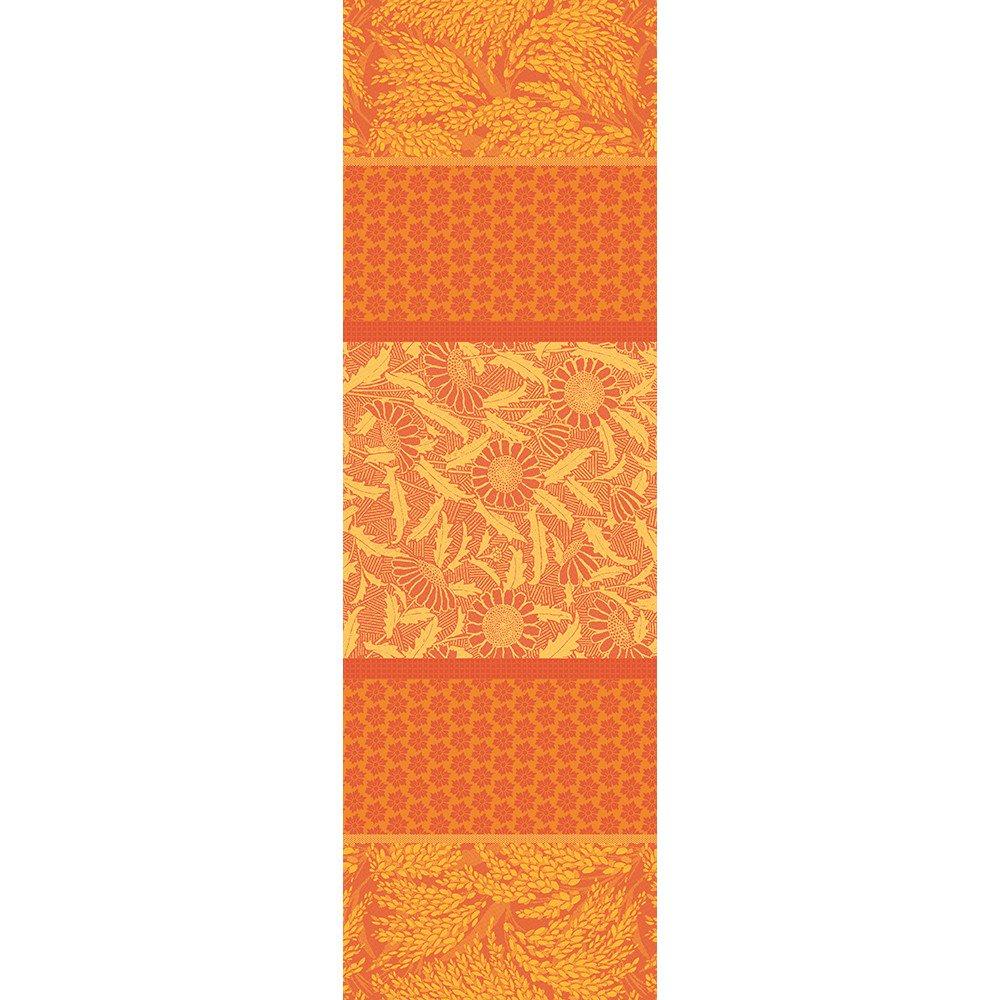 ガルニエティエボー 【撥水GS】テーブルランナー グラミネ オレンジ