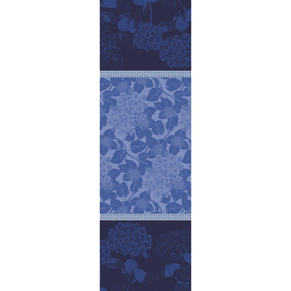 ガルニエティエボー 【撥水GS】テーブルランナー オルタンシア ブルー