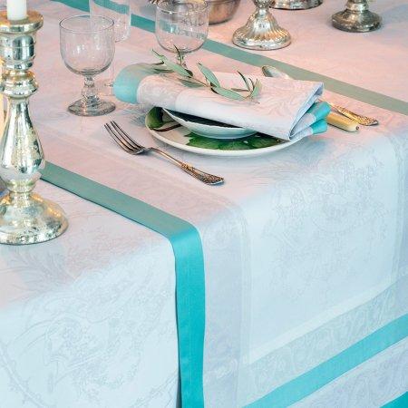 【撥水GS】テーブルランナー ジャルダン ドラレーヌ セラドン