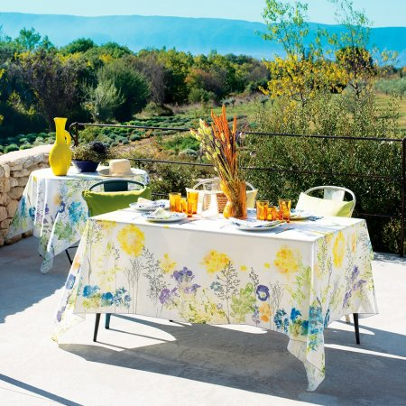 テーブルクロス(撥水なし)カントリーフラワー フロレゾン