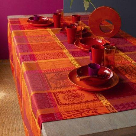 テーブルクロス(撥水なし) ミルワックス オレンジ