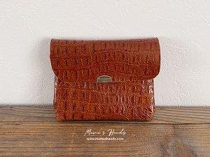 (cp-277)  革 茶色 お財布/ カードケース(ハンドメイド)