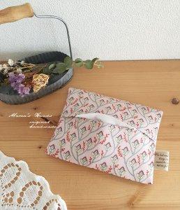 (cp-368) リバティ 小物 小花 ピンク ポケットティッシュ ケース(ハンドメイド)