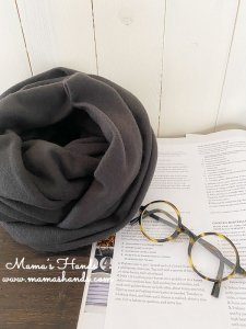 (cp-716) ★数量限定★ ラムウール Lamb's wool  カーキ 良品質 スヌード(ハンドメイド)