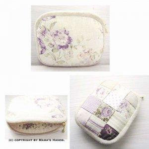 (PC-546) 型紙&説明書 Purple Rose ポーチ 作り方