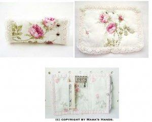 (PC-409) 型紙&説明書 White Rose キーケース 作り方