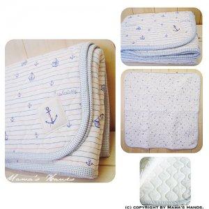 (PC-1260) 型紙&説明書 おやすみ Marin おくるみ マット 作り方