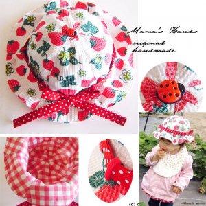 (PC-1315) 型紙&説明書 苺 ベビー帽子 作り方