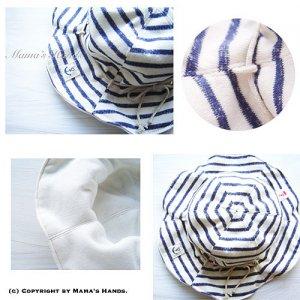 (PC-1011) 型紙&説明書 Marin ベビー用 リバーシブル 帽子 作り方