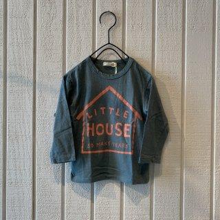 nini  LITTLE HOUSE Tシャツ グレーブルー