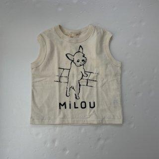 nini  フレンチブルドッグ ノースリーブTシャツ OFF・02
