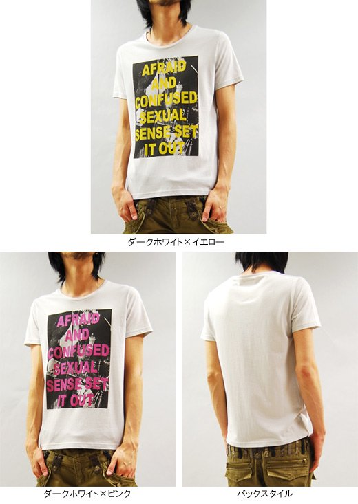 【THANX GOD】レーヨン混デザイン・フォト&メッセージプリント半袖TEE<img class='new_mark_img2' src='https://img.shop-pro.jp/img/new/icons20.gif' style='border:none;display:inline;margin:0px;padding:0px;width:auto;' />詳細2