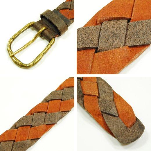 【Vintage Leather】ヴィンテージレザーメッシュベルト詳細3