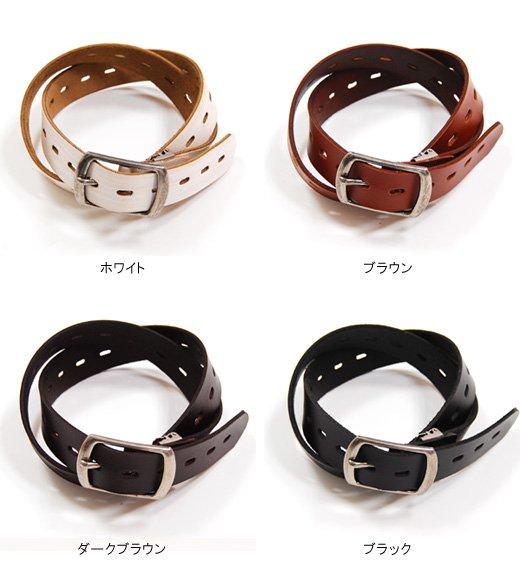 【Stylish Leather】1ホール&シャープデザイン・シンプルレザーベルト詳細2