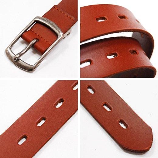 【Stylish Leather】1ホール&シャープデザイン・シンプルレザーベルト詳細3