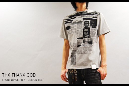 【THANX GOD】クリミナルプリント半袖Tシャツ