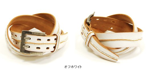 【Vintage Leather】フロントステッチデザイン・ヴィンテージレザーベルト詳細2