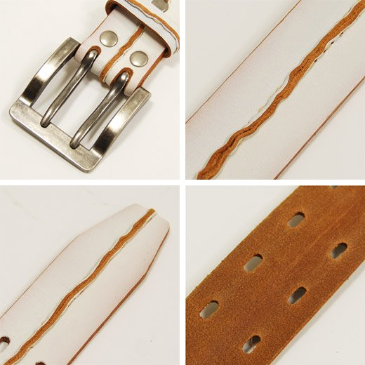 【Vintage Leather】フロントステッチデザイン・ヴィンテージレザーベルト詳細3