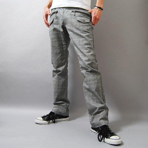 【穿くだけでキレイめスタイルを作る洗練チェックパンツ!】ブッシュポケット・チェック メンズパンツ詳細1