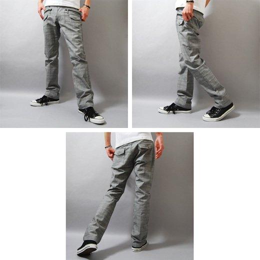 【穿くだけでキレイめスタイルを作る洗練チェックパンツ!】ブッシュポケット・チェック メンズパンツ詳細2