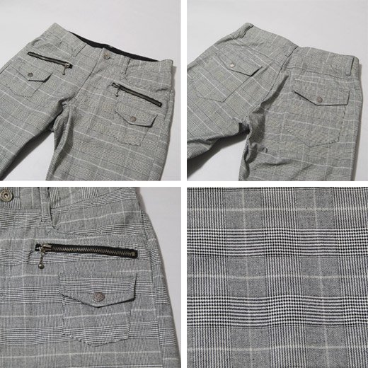 【穿くだけでキレイめスタイルを作る洗練チェックパンツ!】ブッシュポケット・チェック メンズパンツ詳細3