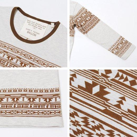 【デザインセンスで勝負する個性の1着!】エスニックプリント メンズ七分袖Tシャツ詳細3