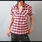 【スタイリングを問わず万能なレッドチェックシャツ】オンブレーチェック・メンズウエスタン半袖シャツ