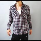 【ピンクベースだから印象が柔らかく優しい雰囲気に】リンクルウォッシュ・メンズウエスタンシャツ