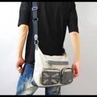 【収納ポケットも豊富な多機能バッグ】ユニオンジャックアクセント・ショルダーバッグ