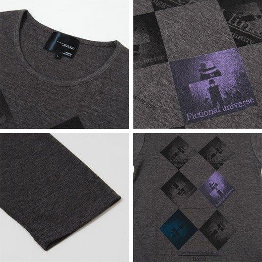 【シックに整った1枚だからサラッと着ても雰囲気◎】ダイヤプリント・メンズ七分袖Tシャツ詳細3