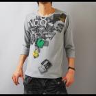 【インパクトあるプリントは1枚でも存在感大!】フォトプリント・メンズ七分袖Tシャツ