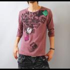【季節の変わり目はオシャレな色使いで差をつける!】フォトプリント・メンズ七分袖Tシャツ
