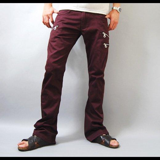 【脚長でスタイルが抜群にキレイに見えるシルエット!】サイドジップポケット・フレアカーゴパンツ