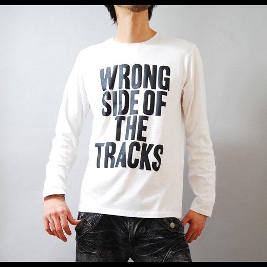 【インパクトで勝負する簡潔で洗練されたレタードTシャツ。】メッセージプリント メンズ長袖Tシャツ