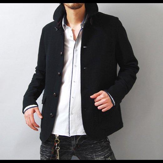 【キレイめでカッコイイを体現した品格あるジャケット】ボーダーアクセント・スリムデッキジャケット