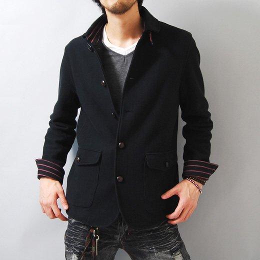 【キレイめでカッコイイを体現した品格あるジャケット】ボーダーアクセント・スリムデッキジャケット詳細1