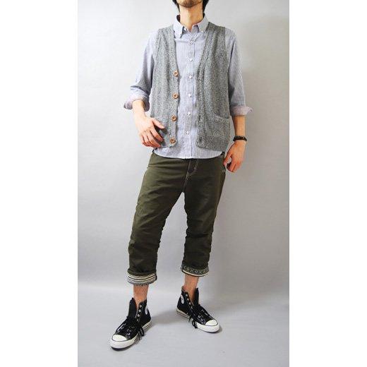 【言うことナシの洗練されたキレイめシャツ!抜群に使える秀逸な1着】ピンストライプ メンズ五分袖シャツ詳細2