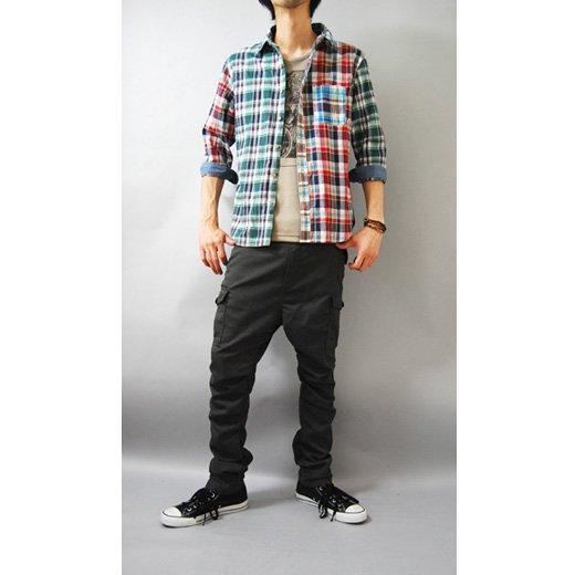 【スタイリングを個性的で華やかなインパクトある印象に♪】クレイジーパターン・七分袖チェックシャツ詳細2