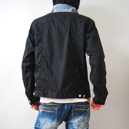 【マッドなブラックの存在感。カジュアルにもキレイめにも◎】Gジャンタイプ・シンプルシャツジャケット詳細1