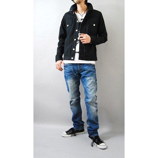 【マッドなブラックの存在感。カジュアルにもキレイめにも◎】Gジャンタイプ・シンプルシャツジャケット詳細2