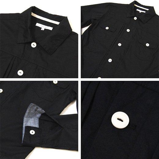 【マッドなブラックの存在感。カジュアルにもキレイめにも◎】Gジャンタイプ・シンプルシャツジャケット詳細3