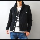 【マッドなブラックの存在感。カジュアルにもキレイめにも◎】Gジャンタイプ・シンプルシャツジャケット
