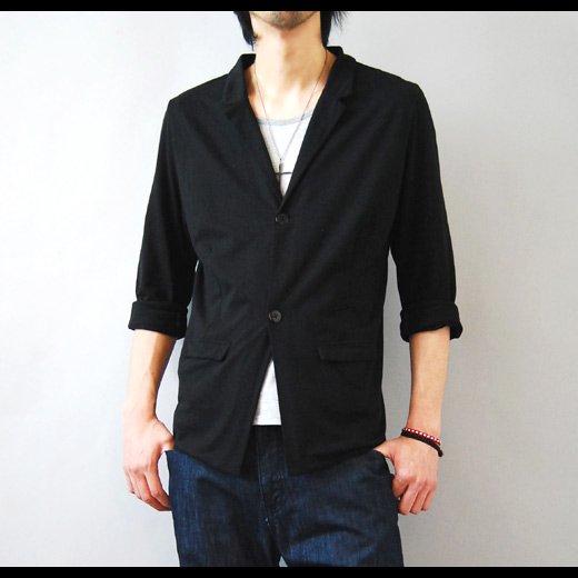 【ラフに着こなすカジュアルテーラードジャケット】切りっぱなしデザイン・カットソーテーラードジャケット
