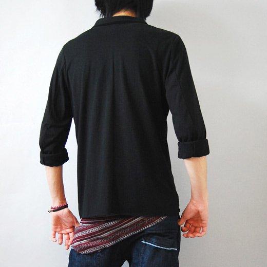 【ラフに着こなすカジュアルテーラードジャケット】切りっぱなしデザイン・カットソーテーラードジャケット詳細1