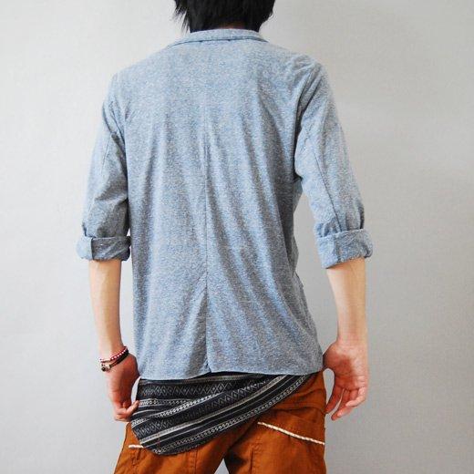 【シャツみたいに着こなせるリラックス感がウリ♪】切りっぱなしデザイン・カットソーテーラードジャケット詳細1
