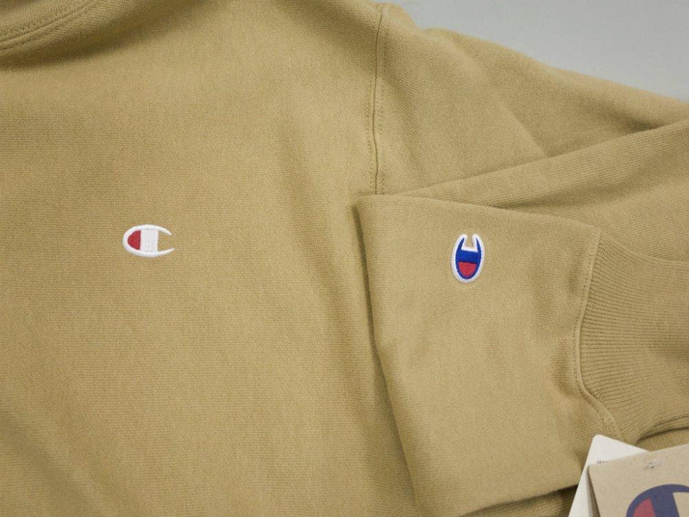 海外限定 別注カラー Champion 12oz Premium Reverse Weave リバースウィーブパーカ taupe