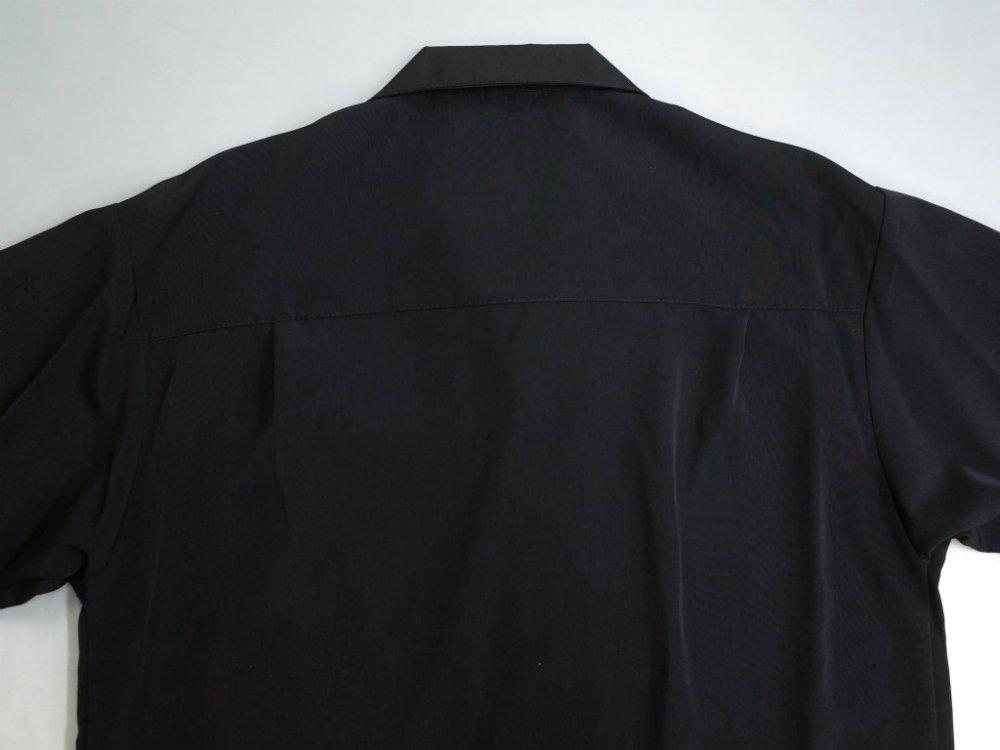 CALTOP OPEN COLLAR S/S シャツ black MADE IN USA