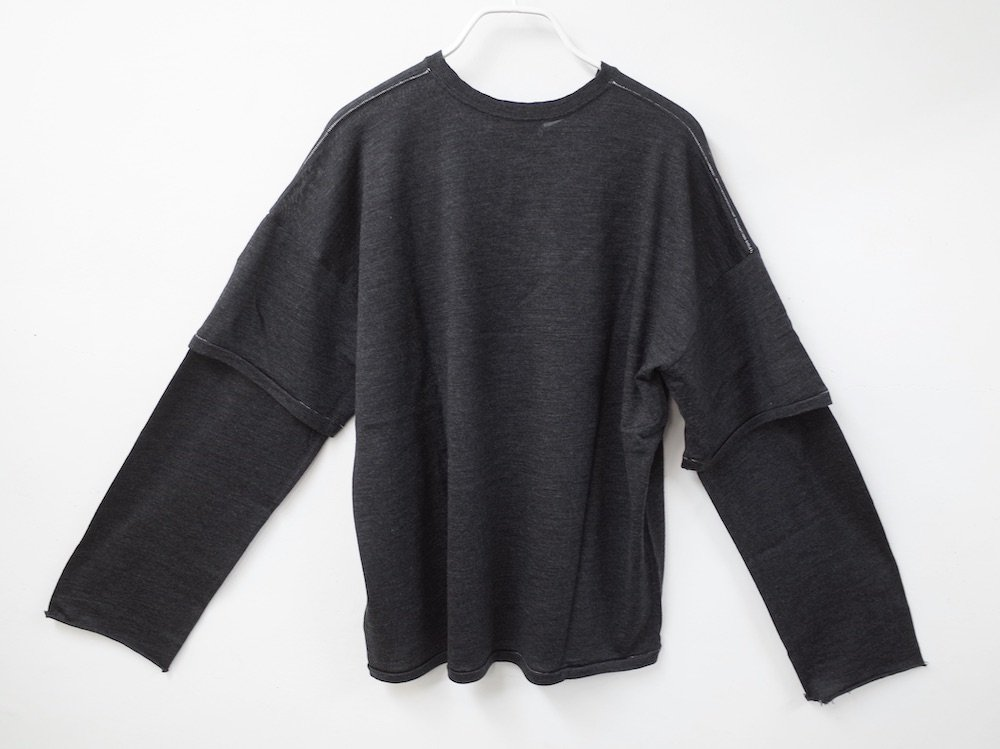 <img class='new_mark_img1' src='https://img.shop-pro.jp/img/new/icons20.gif' style='border:none;display:inline;margin:0px;padding:0px;width:auto;' />THEE merino wool double sleeve knit MW-KT-02